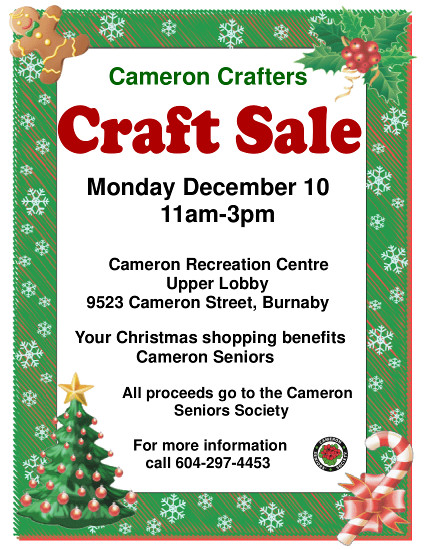 Crafters Sale Dec 10, 2018