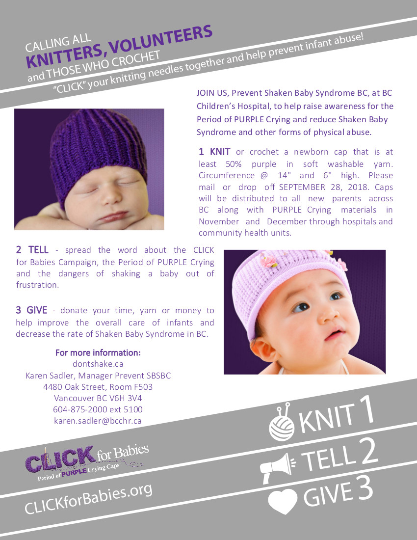 Clik for Babies 2018 campaign poster
